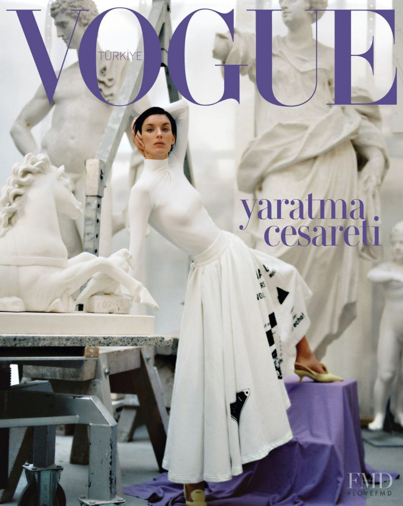Marte Mei van Haaster featured on the Vogue Turkey cover from March 2021