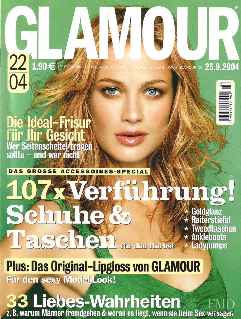 Carolyn Murphy featured on the Glamour Germany cover from September 2004