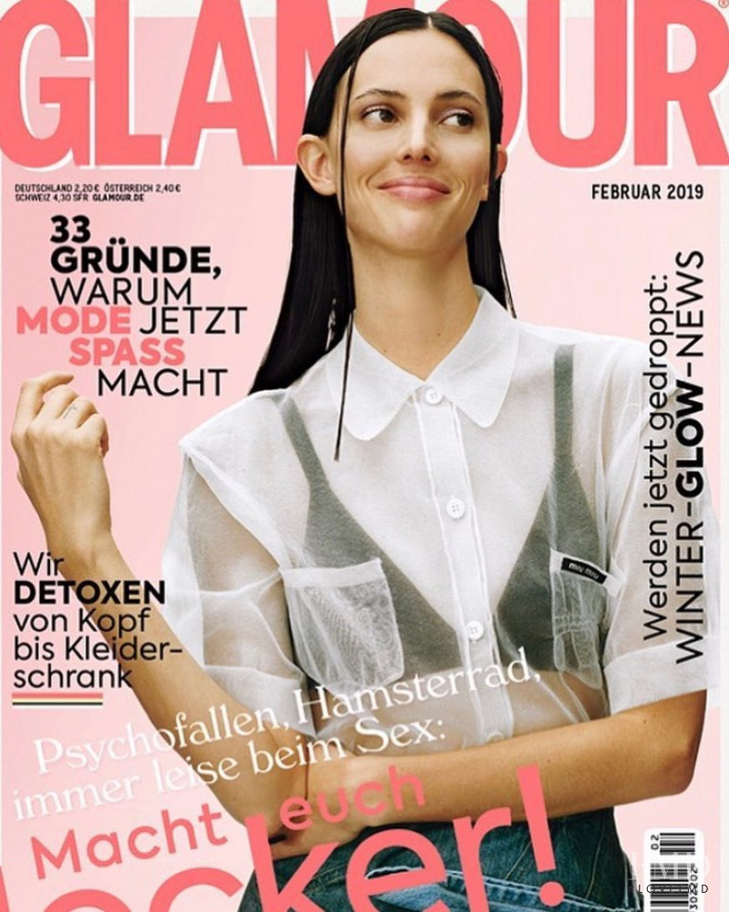 Cover Of Glamour Germany With Ruby Aldridge February 2019 Id 48519