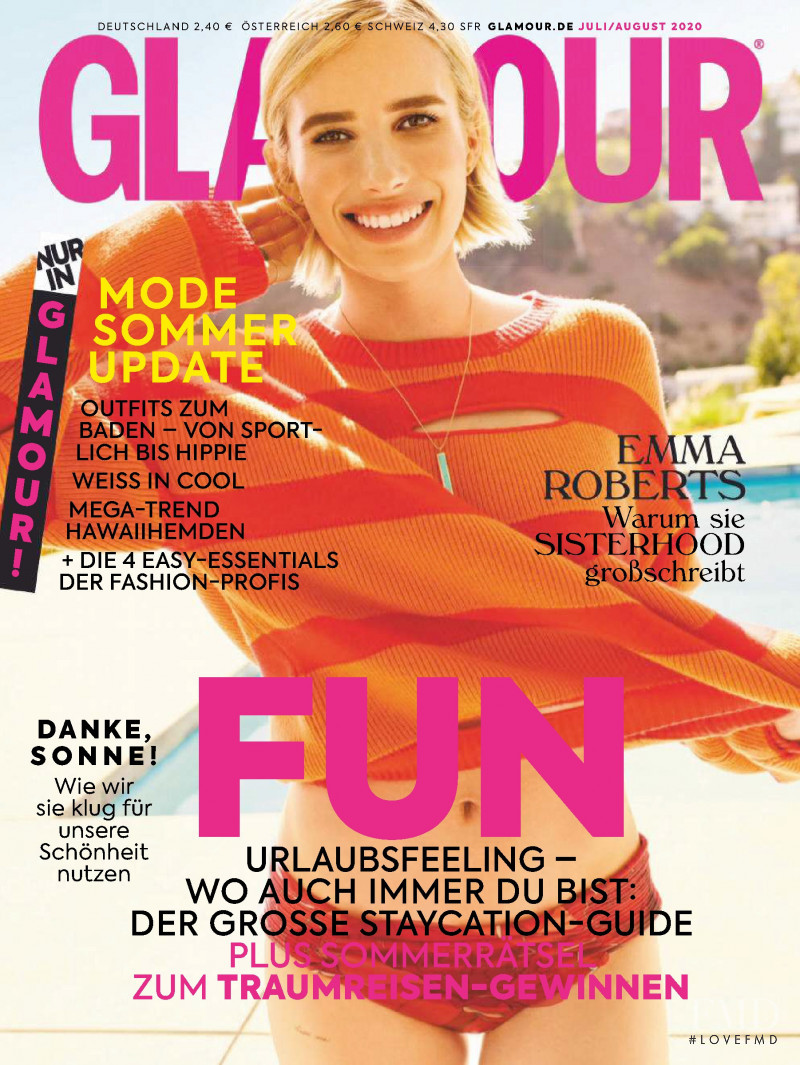 featured on the Glamour Germany cover from July 2020