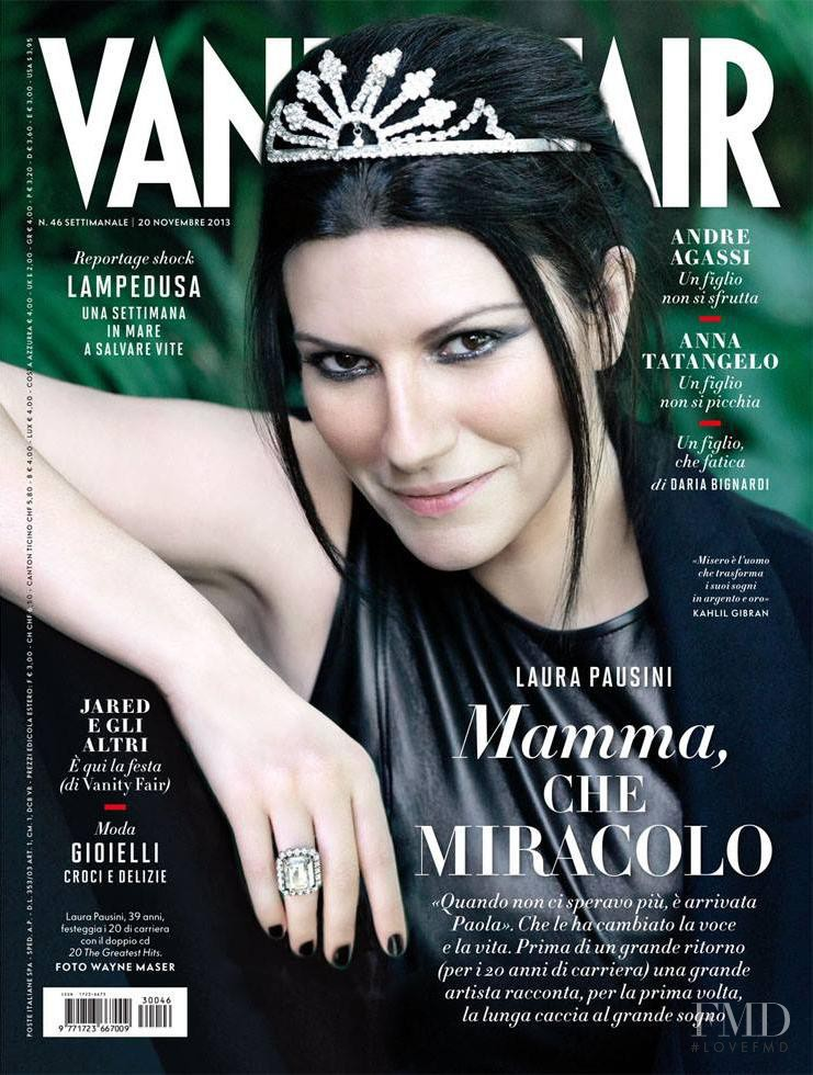 Laura Pausini featured on the Vanity Fair Italy cover from November 2013
