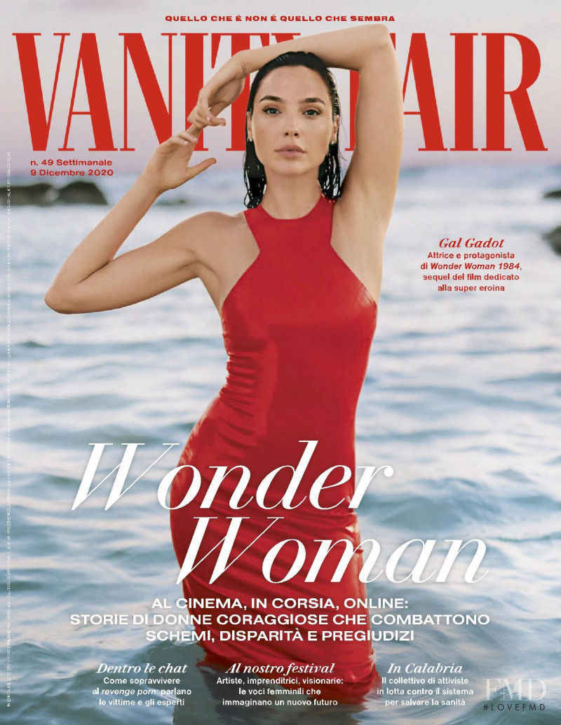Gal Gadot featured on the Vanity Fair Italy cover from December 2020