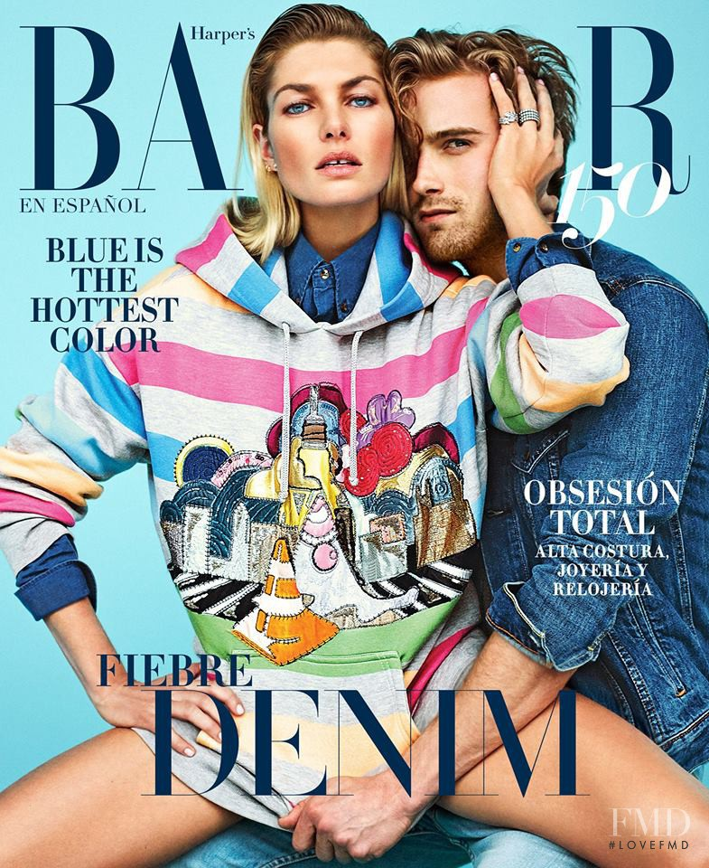 Jessica Hart featured on the Harper\'s Bazaar Mexico cover from May 2017