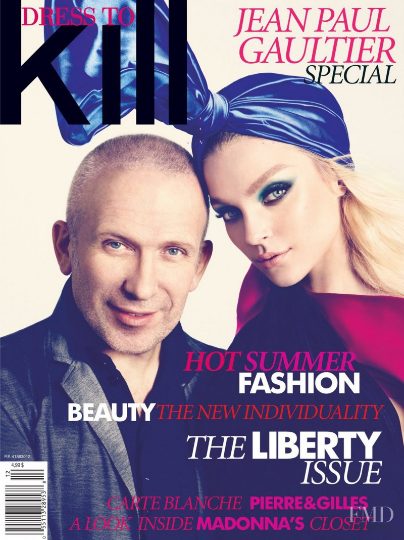 Jessica Stam featured on the Dress To Kill Magazine cover from June 2011