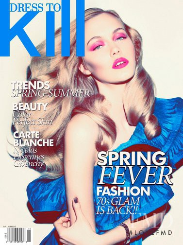 Katrina Latawiec featured on the Dress To Kill Magazine cover from March 2011