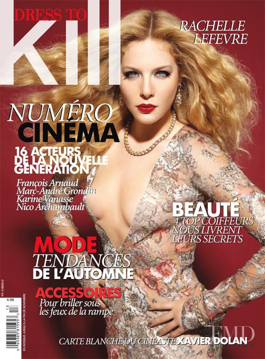 Rachelle Lefevre featured on the Dress To Kill Magazine cover from September 2011