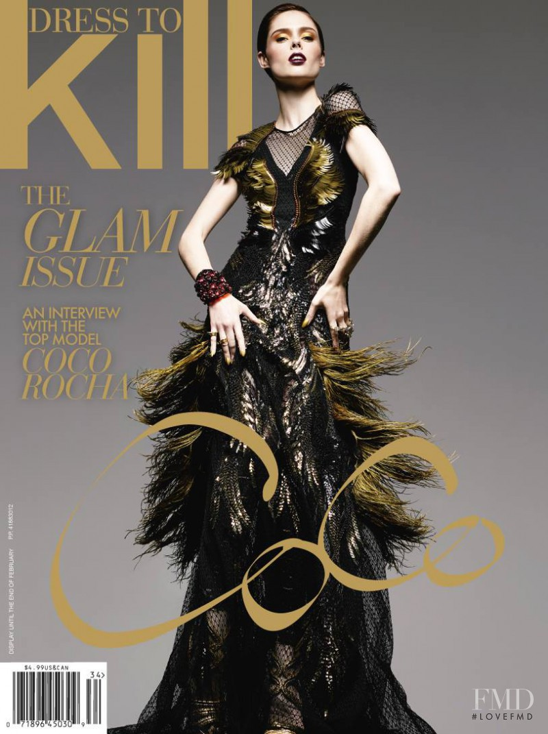 Coco Rocha featured on the Dress To Kill Magazine cover from December 2013