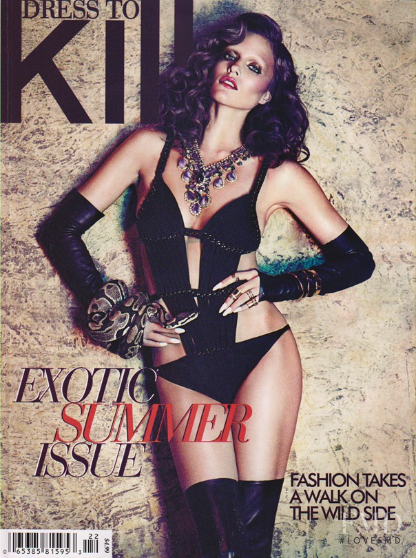 Kim Cloutier featured on the Dress To Kill Magazine cover from June 2013