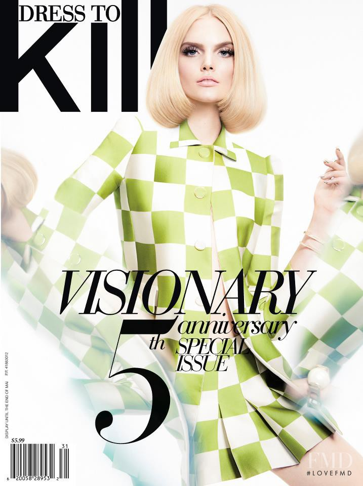 Dani Seitz featured on the Dress To Kill Magazine cover from March 2013