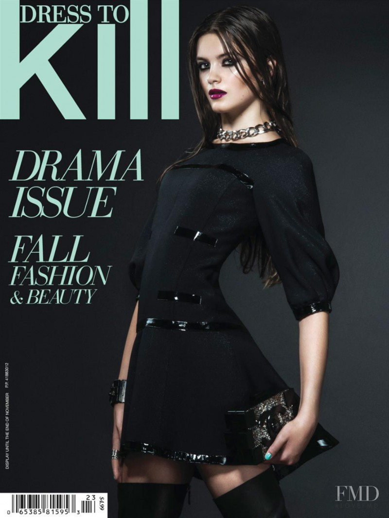 Emma Génier featured on the Dress To Kill Magazine cover from October 2013