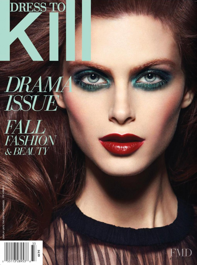 Pamela Bernier featured on the Dress To Kill Magazine cover from October 2013