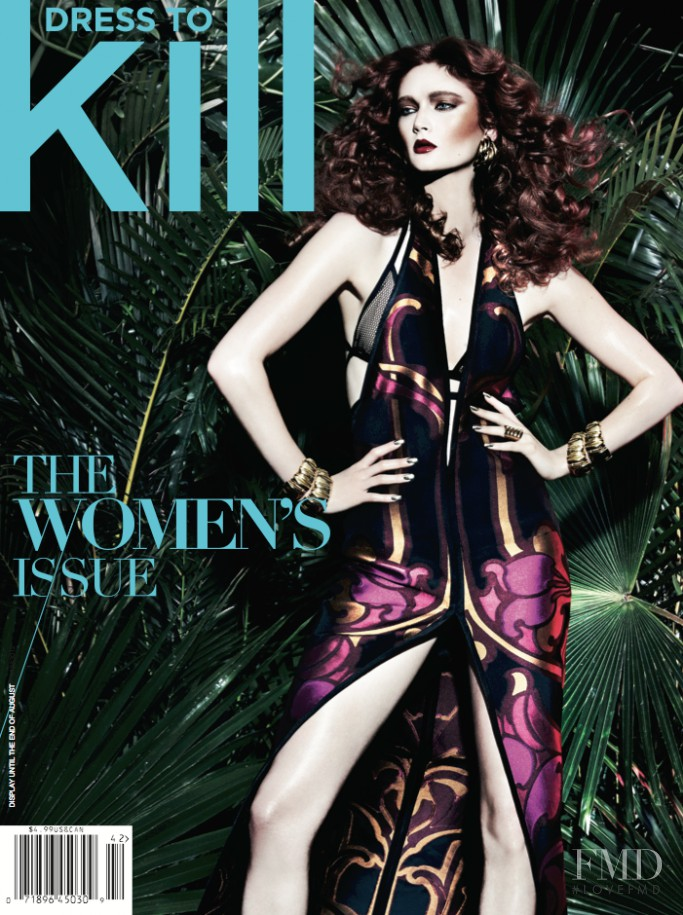 Sophie Touchet featured on the Dress To Kill Magazine cover from June 2014