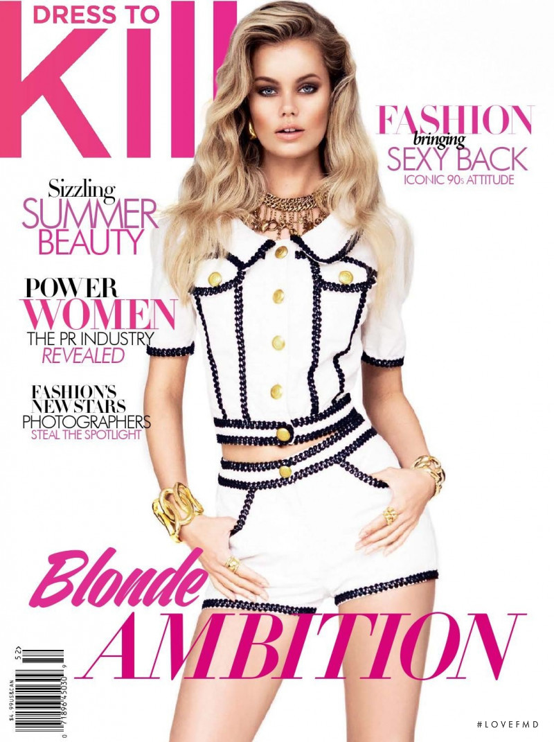 Frida Aasen featured on the Dress To Kill Magazine cover from July 2015