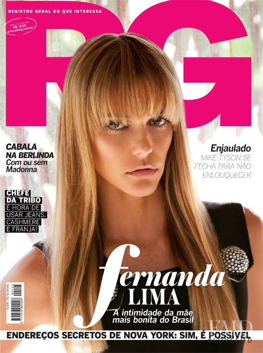 Fernanda Lima featured on the RG Vogue Brazil cover from May 2011