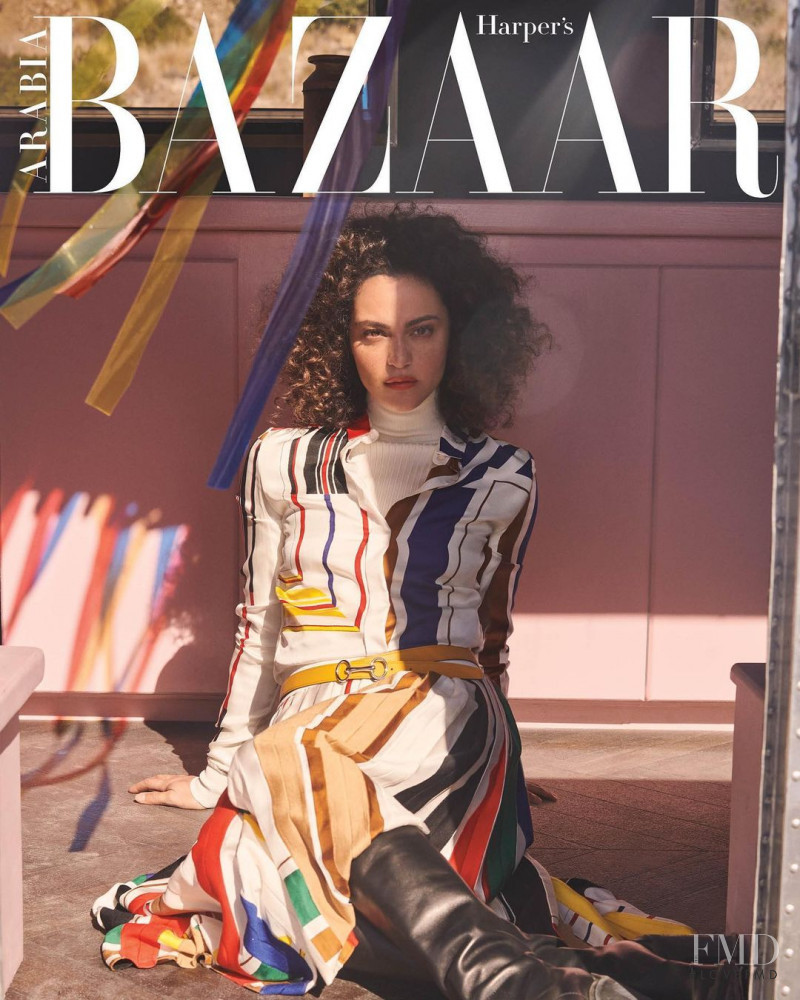 May Calamawy featured on the Harper\'s Bazaar Arabia cover from November 2020