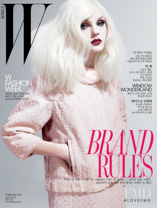 Jessica Stam featured on the W Korea cover from February 2011