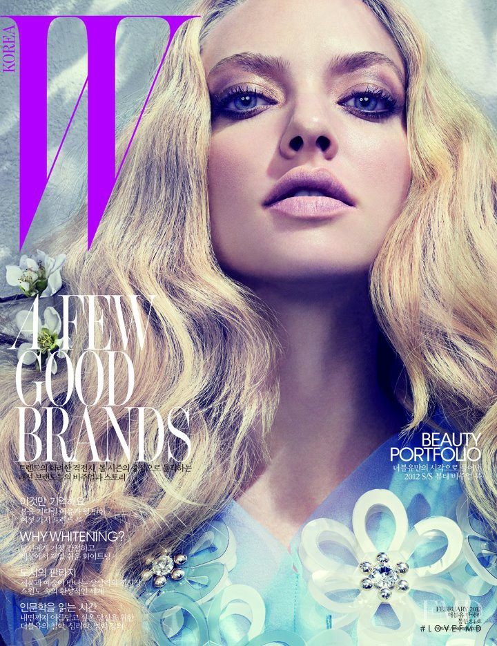 Amanda Seyfried featured on the W Korea cover from February 2012