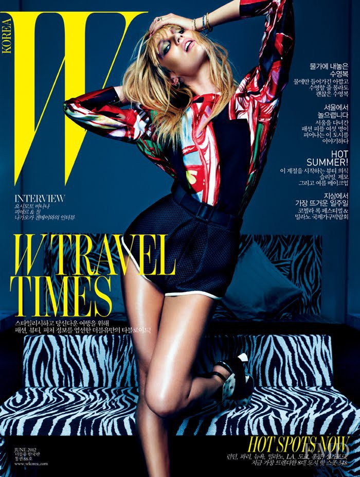 Candice Swanepoel featured on the W Korea cover from June 2012