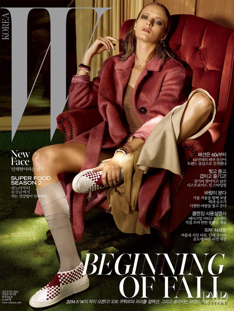 Daria Strokous featured on the W Korea cover from August 2014