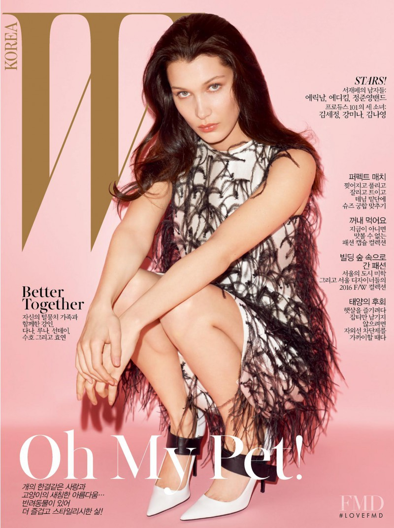 Bella Hadid featured on the W Korea cover from May 2016