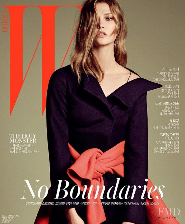 Karlie Kloss featured on the W Korea cover from September 2016