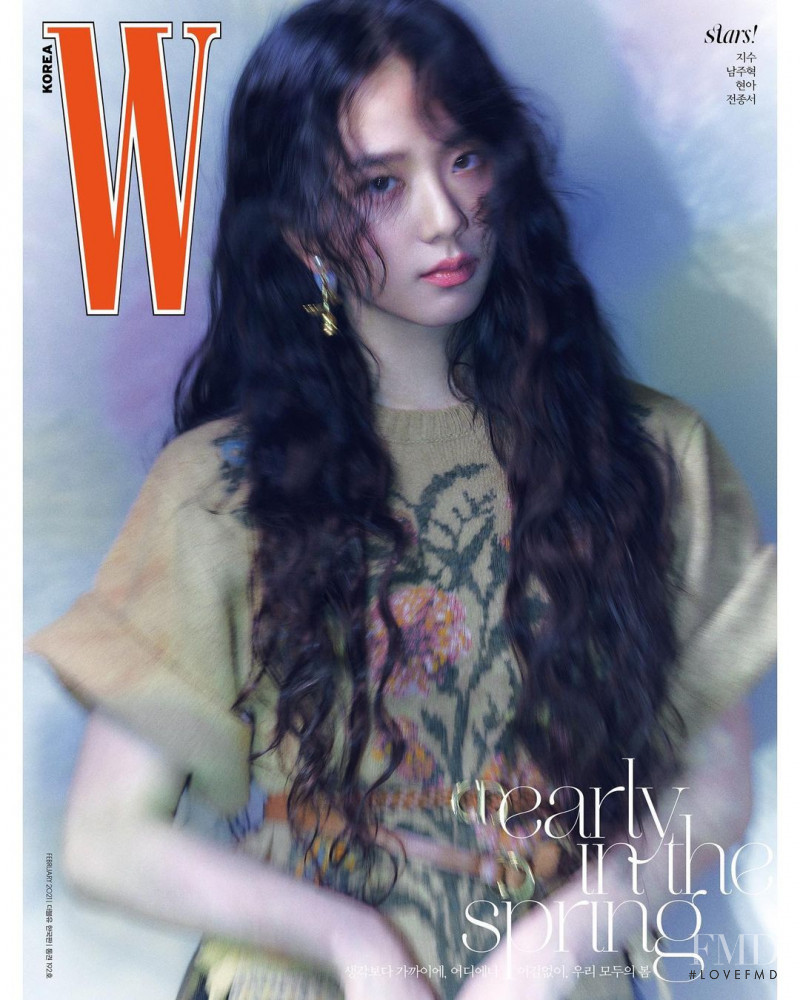 Jisoo  featured on the W Korea cover from February 2021