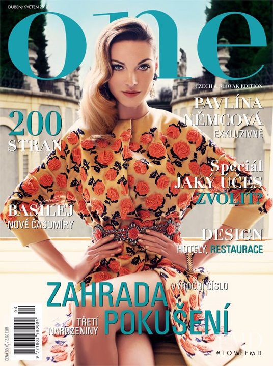 Paulina Nemcova featured on the One Czech cover from April 2012