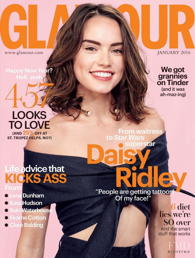 featured on the Glamour UK cover from January 2016