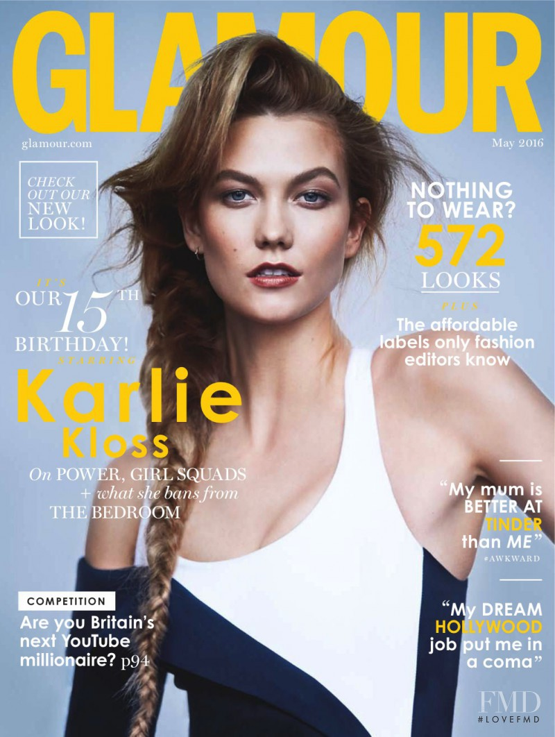 Karlie Kloss featured on the Glamour UK cover from May 2016