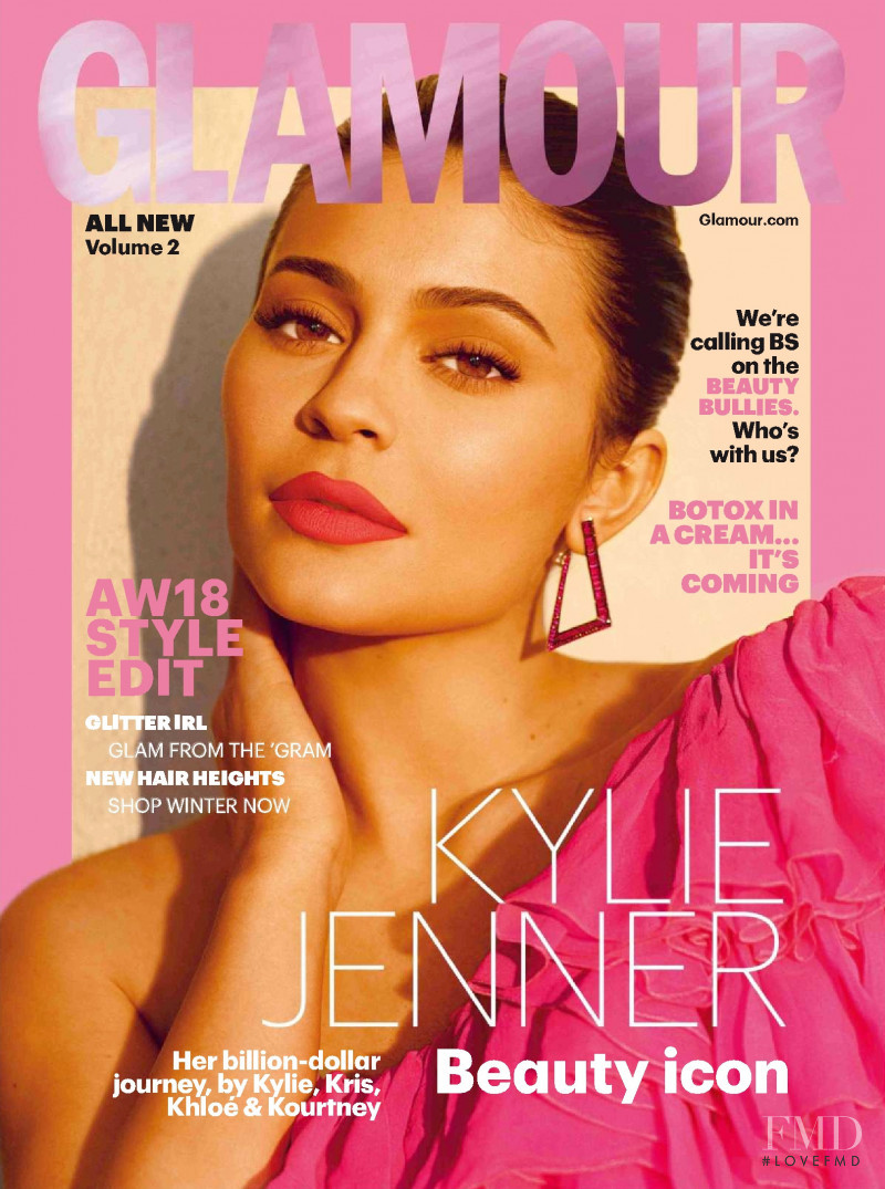Kylie Jenner featured on the Glamour UK cover from September 2018