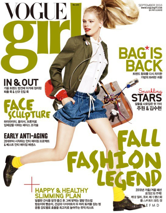 Valerie van der Graaf featured on the Vogue Girl Korea cover from September 2010