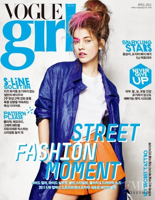 Barbara Palvin featured on the Vogue Girl Korea cover from April 2011