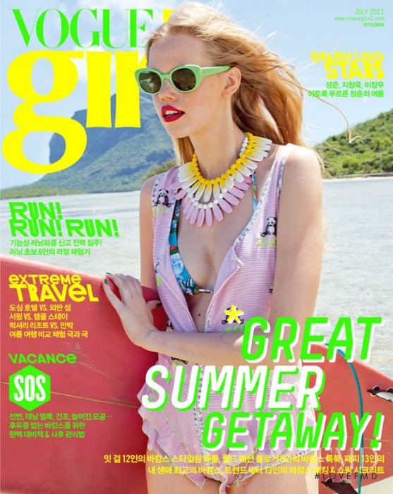 Alex Sander featured on the Vogue Girl Korea cover from July 2011