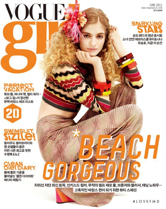 Dorte Limkilde featured on the Vogue Girl Korea cover from June 2011