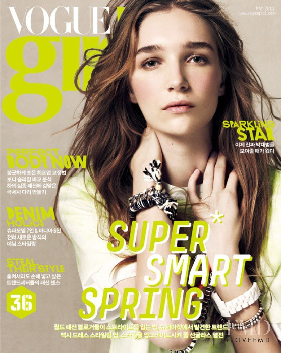 Janice Alida featured on the Vogue Girl Korea cover from May 2011