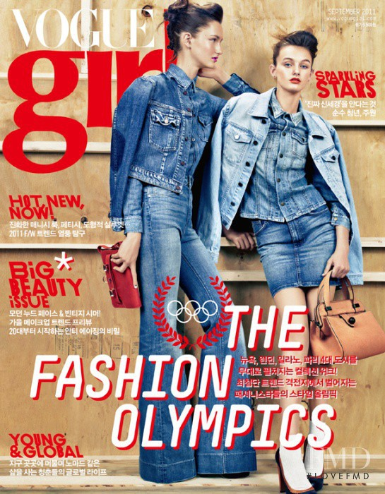 Mackenzie Drazan, Andie Arthur featured on the Vogue Girl Korea cover from September 2011