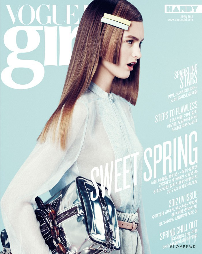 Andie Arthur featured on the Vogue Girl Korea cover from April 2012