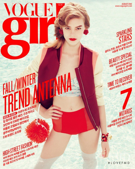 Ondria Hardin featured on the Vogue Girl Korea cover from August 2012
