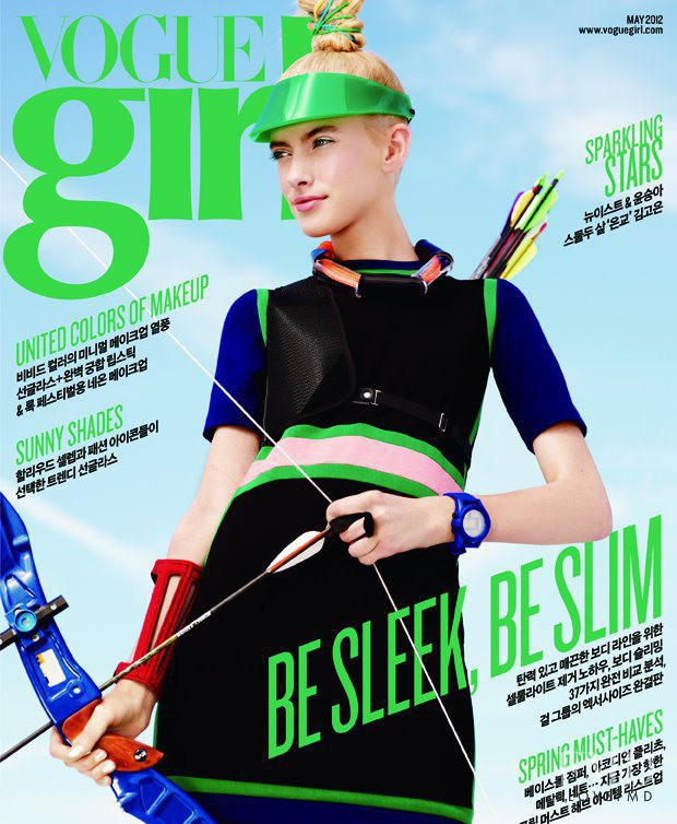 Sofya Titova featured on the Vogue Girl Korea cover from May 2012
