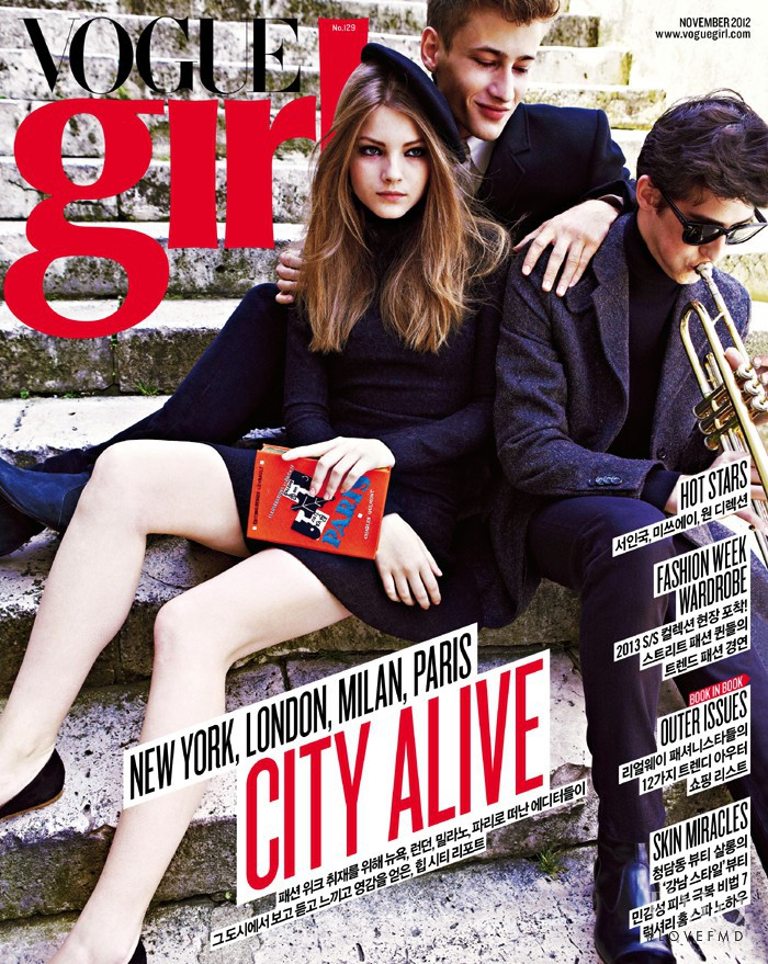 featured on the Vogue Girl Korea cover from November 2012