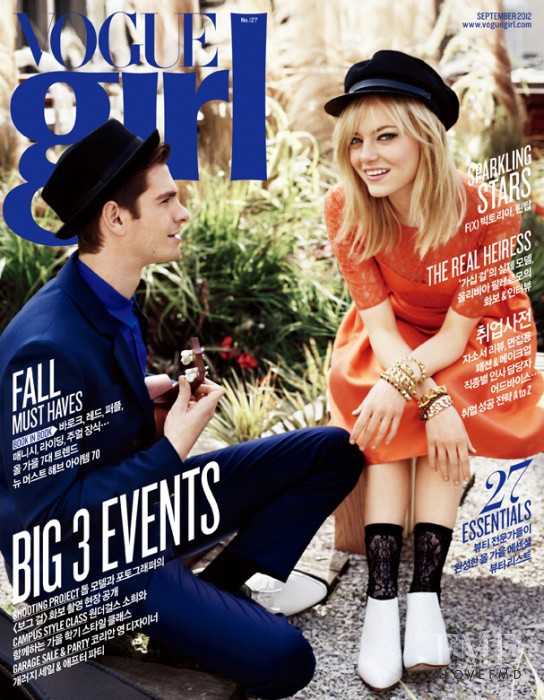 Andrew Garfield, Emma Stone featured on the Vogue Girl Korea cover from September 2012