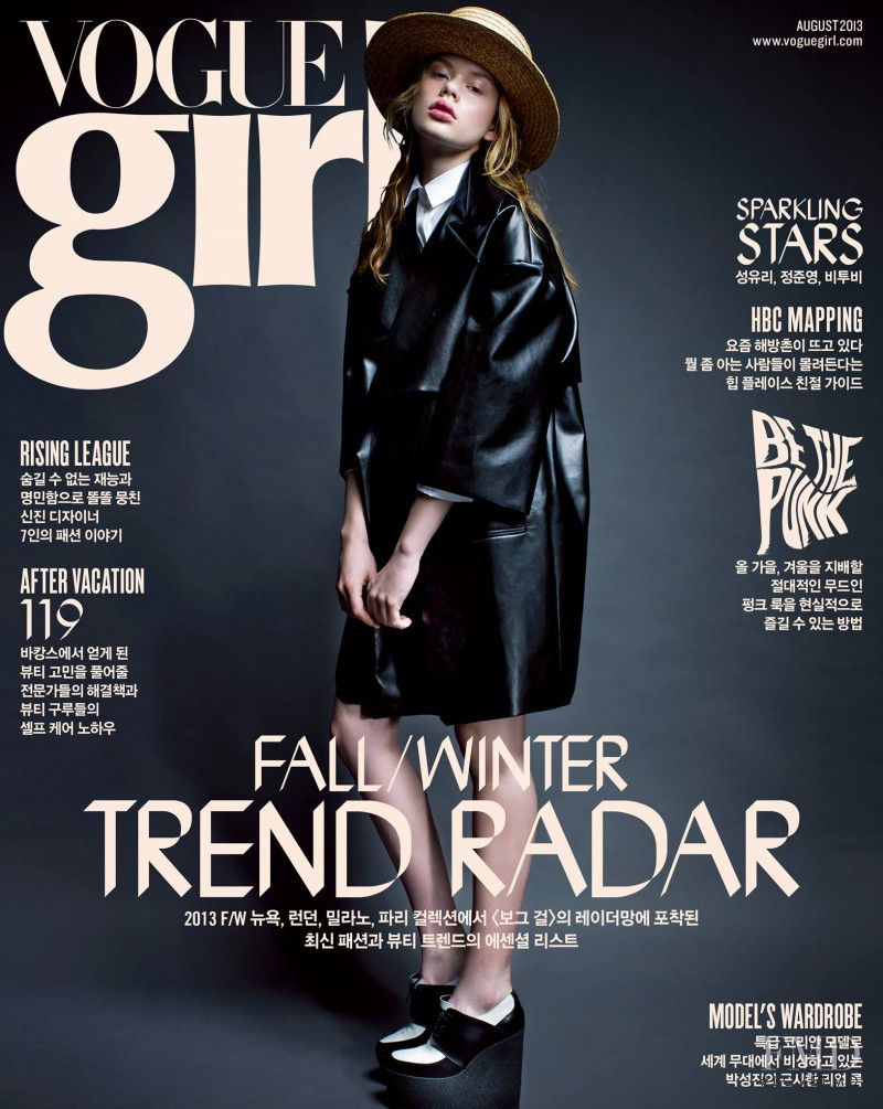 featured on the Vogue Girl Korea cover from August 2013