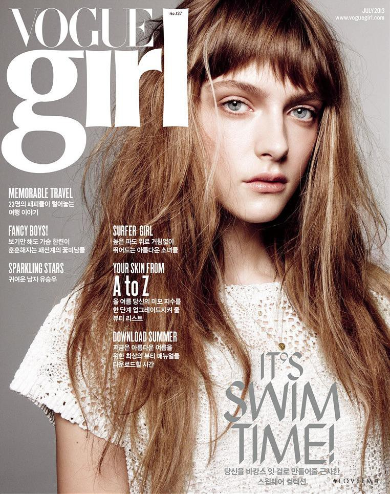 Gracie van Gastel featured on the Vogue Girl Korea cover from July 2013
