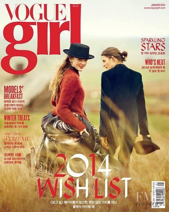 Sofie Sjaastad featured on the Vogue Girl Korea cover from January 2014