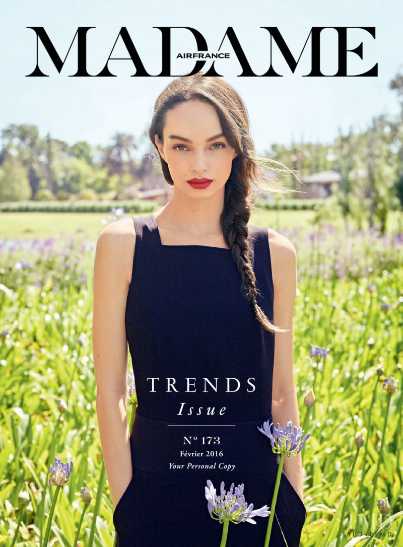 Luma Grothe featured on the Air France Madame cover from February 2016