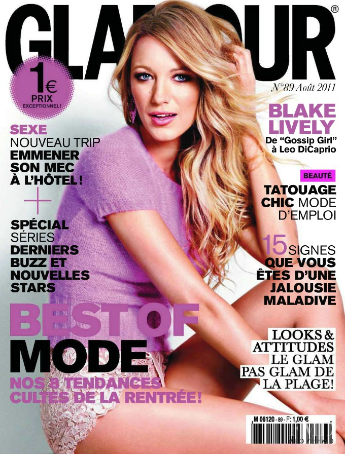 Blake Lively featured on the Glamour France cover from August 2011