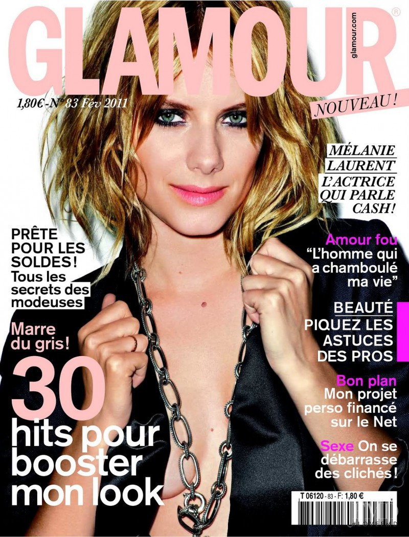 Mélanie Laurent featured on the Glamour France cover from February 2011