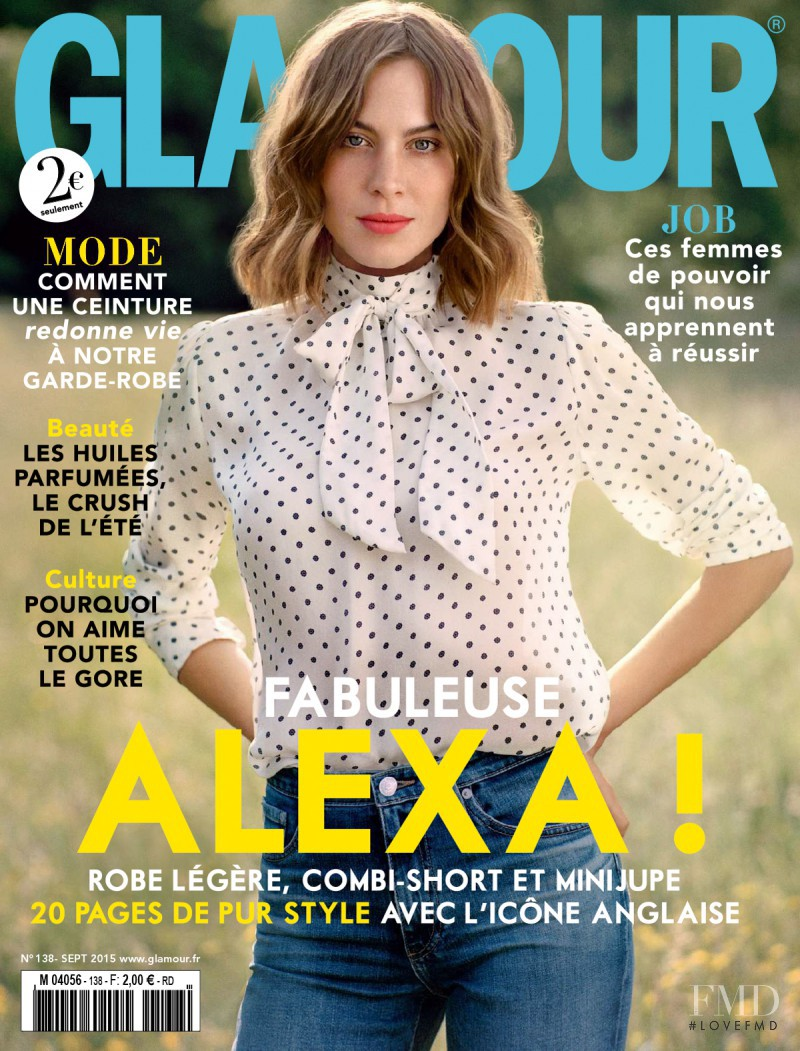 Alexa Chung featured on the Glamour France cover from September 2015