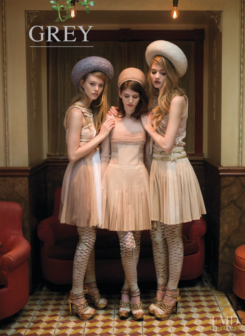 Dorte Limkilde, Carrie Anne Burton, Ondria Hardin featured on the GREY Magazine cover from September 2012
