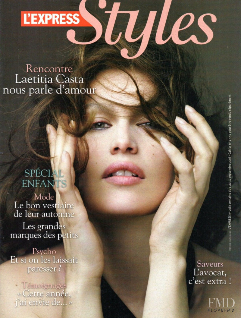 Laetitia Casta featured on the L\'Express Styles cover from September 2008